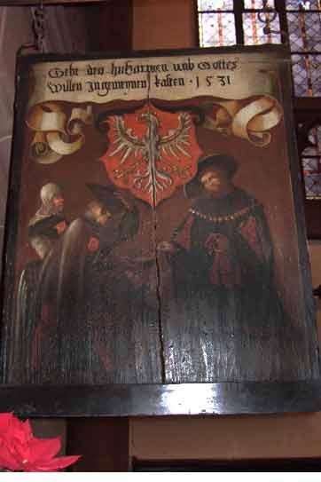 Bildtafel des Allgemeinen Almosenkastens in die Dreikönigskirche