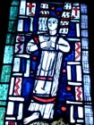 Engel. ehemalige Sakristei - Glasmalerei von Charles Crodel