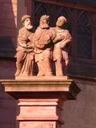 'Die Heiligen Drei Könige' auf der Brunnensäule (1781)
