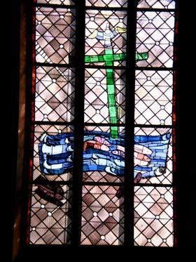 Taufe - Ostfenster von Charles Crodel, Dreikönigskirche