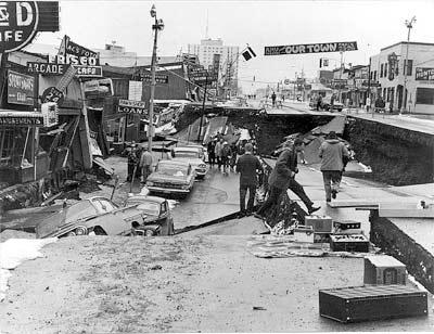 'Damage to Fourth Avenue', 1964, U.S. Geological Survey