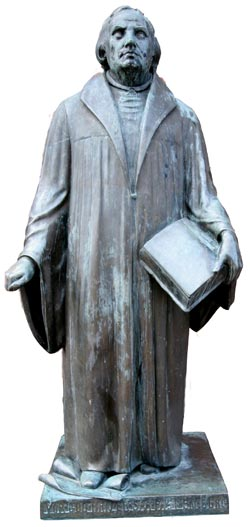 'Luther Kirken in Copenhagen, Denmark. Statue of Martin Luther.', 2006, Ib Rasmussen