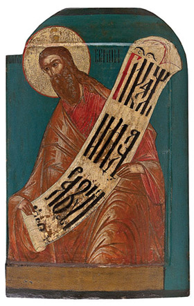 'Icon of Jeremiah', 17th c., Anonymous