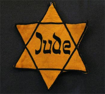 Yellow badge Star of David called 'Judenstern'., 2005, Daniel Ullrich, Threedots