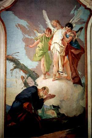 'Die Erscheinung der Engel vor Abraham', Giovanni Battista Tiepolo, 1726-1728
