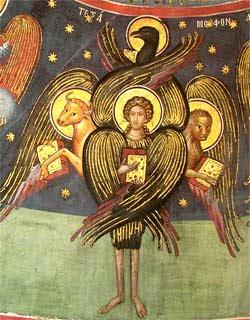 'Tetramorph. Fresco, Meteora ', 16. Jhd.
