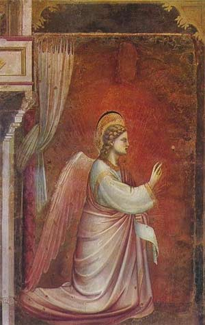 'The Angel Gabriel Sent by God', Giotto di Bondone (1267-1337)
