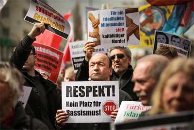 'Demonstration gegen Rechtsextremismus und zur Erinnerung an die NSU-Opfer, am 13. April 2013', 2013, linksfraktion