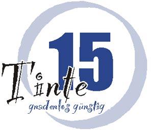 'Logo von Tinte15 - gnadenlos günstig', 2010, Tinte15