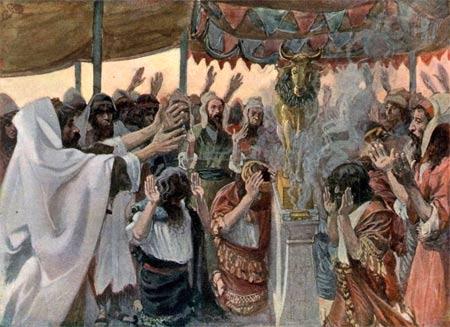 'The Golden Calf, as in Exodus 32:4', vor 1903, James Joseph Jacques Tissot