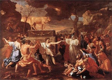 'The Adoration of the Golden Calf ', etwa 1634, Nicolas Poussin