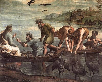 'The Miraculous Draught of Fishes ', 1515, Raphael