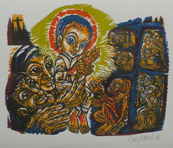 'Licht in der Finsternis', 1976 - Walter Habdank. © Galerie Habdank