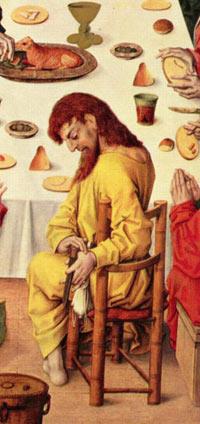 Ausschnitt aus 'Das Abendmahl', Meister des Hausbuches, um 1480-1485