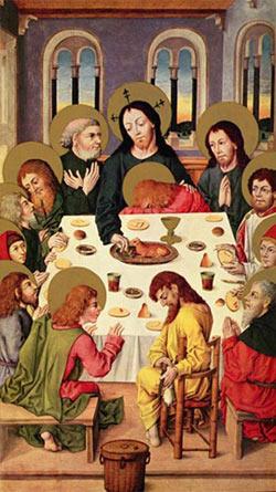 'Das Abendmahl', Meister des Hausbuches, um 1480-1485