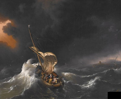 'Christ in the Storm on the Sea of Galilee', 1695