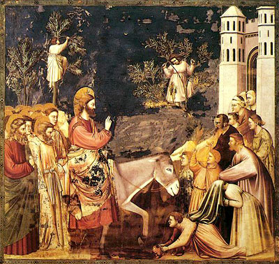 'Jesus' Entry into Jerusalem', Giotto di Bondone (1267-1337)