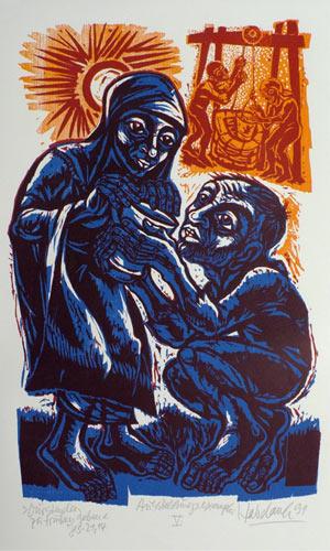 'Dürstenden zu trinken geben', 1991 - Walter Habdank. © Galerie Habdank