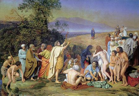 'Christus erscheint dem Volke', Alexander Andrejewitsch Iwanow, 1837-1857
