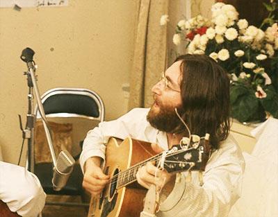 'John Lennon rehearses Give Peace A Chance', Roy Kerwood, 1969