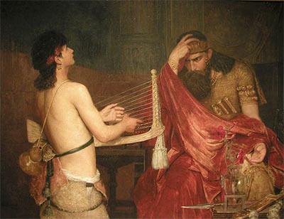 'David and Saul', 1878,  Ernst Josephson
