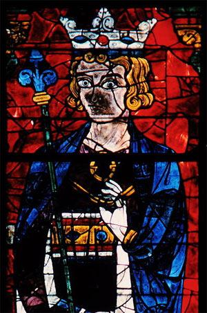 'König Salomo, Glasfenster in der Kathedrale Notre-Dame in Chartres, um 1230', 1964, Hans Bernhard