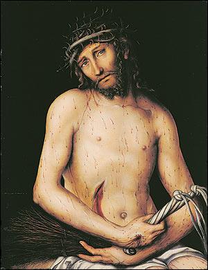 'Christus als Schmerzensmann', Lukas Cranach der Ältere
