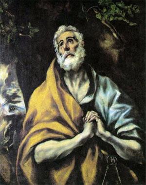 'The Repentant Peter', El Greco, c. 1600