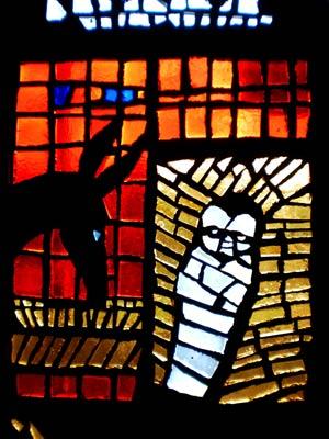 Glasfenster in einer Autobahnkirche, Baden Baden, PSch