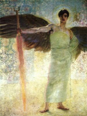 'Der Wächter des Paradieses', Franz von Stuck, 1889(1889)