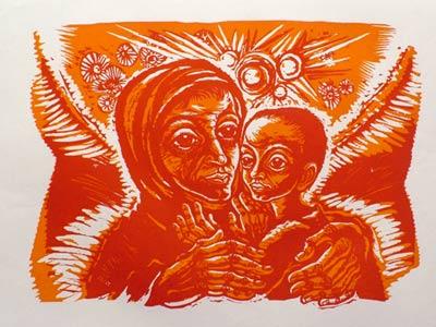 'Geburt des Kindes', 1986 - Walter Habdank. © Galerie Habdank