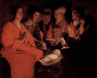 'Anbetung der Hirten', c. 1644, Georges de La Tour