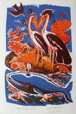 'Fünfter Schöpfungstag', 1987 - Walter Habdank. © Galerie Habdank