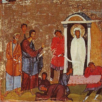 'Die Erweckung des Lazarus', Erste Hälfte des 12. Jahrhunderts, Saint Catherine's Monastery, Sinai (Egypt) / K. Weitzmann: 'Die Ikone'