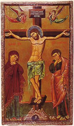 'Kreuzigungsgruppe', Drittes Viertel des 13. Jahrhunderts, Saint Catherine's Monastery, Sinai