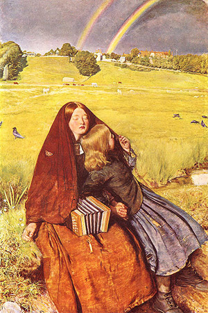'The Blind Girl', 1856, John Everett Millais