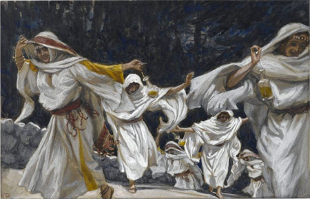 'The Foolish Virgins', between 1886(1886) and 1894, James Joseph Jacques Tissot
