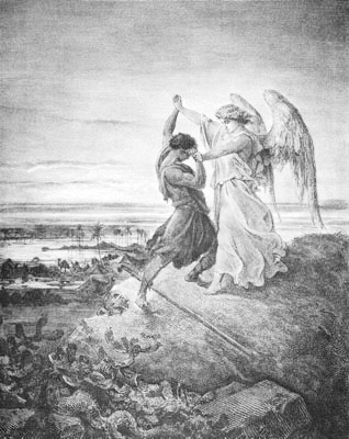 'Jacob Wrestling with the Angel', Gustave Doré, 1855
