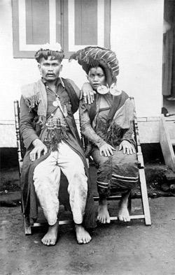 'Repronegatief. Een Karo-Bataks echtpaar'