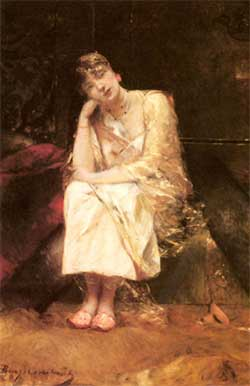 'Contemplation', Jean-Joseph Benjamin-Constant (1845 - 1902), Art Renewal Center Museum, image 9979.