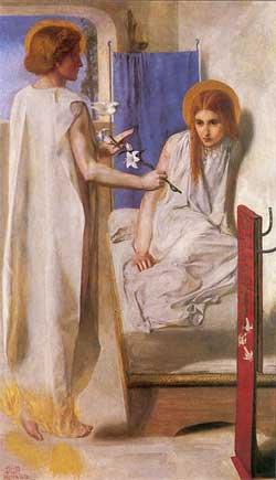 'Ecce Ancilla Domini!', Dante Gabriel Rossetti, 1850