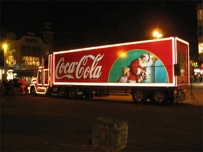 'Coca-Cola Christmas truck', 2006, User:Husky