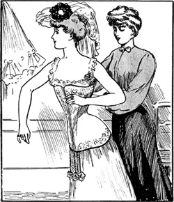 'Chez la corsettiere', 1904, G. Chamonin