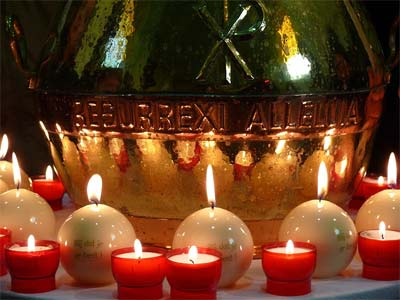 'Candles at a baptism in a Roman Catholic Church, Ad Meskens