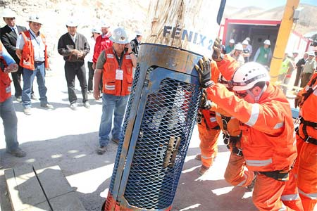 'Rescue of Chilean miners - Rescue worker Patricio Sepúlveda inside capsule', 2010