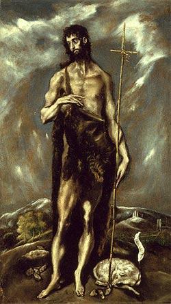 San Juan Bautista - El Greco - Lienzo - hacia 1600 - 1605