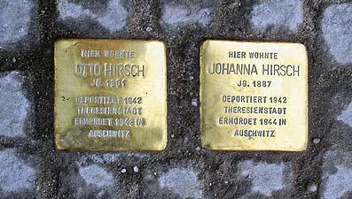 'Stolpersteine für Otto und Johanna Hirsch, Ffm-Bergen-Enkheim', 2007, dontworry