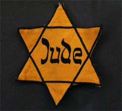 'Yellow badge Star of David called 'Judenstern', 2005, Daniel Ullrich, Threedots