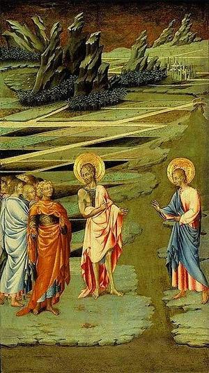 'Ecce agnus dei', 1455-60, Giovanni di Paolo