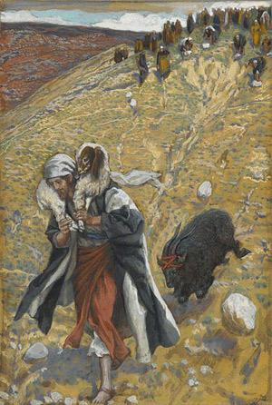 'Agnus-Dei: The Scapegoat', between 1886(1886) and 1894,  James Joseph Jacques Tissot